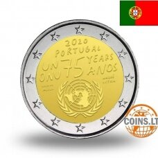 PORTUGALIJA 2 EURAI 2020 75m. JUNGTINĖMS TAUTOMS