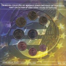 PORTUGALIJA 2002 m. OFICIALUS BANKINIS MONETŲ RINKINYS