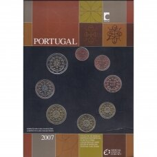 PORTUGALIJA 2007 m. OFICIALUS BANKINIS MONETŲ RINKINYS (POPIERINĖJE KORTELĖJE)