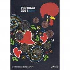 PORTUGALIJA 2013 m. OFICIALUS BANKINIS MONETŲ RINKINYS (POPIERINĖJE KORTELĖJE)