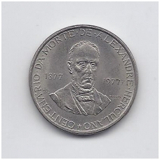 PORTUGALIJA 5 ESCUDOS 1977 KM # 605 AU
