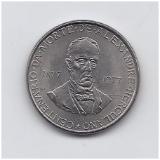 PORTUGALIJA 25 ESCUDOS 1977 KM # 606 AU