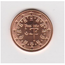 PORTUGALIJA 5 EUROCENTS 2002 KM # 742 UNC