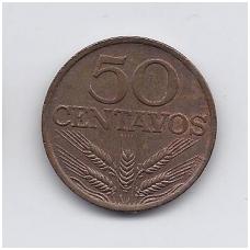 PORTUGALIJA 50 CENTAVOS 1978 KM # 596 VF