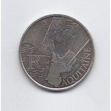 PRANCŪZIJA 10 EURO 2010 KM # 1645 XF Aquitaine