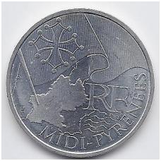 PRANCŪZIJA 10 EURO 2010 KM # 1663 AU MIDI-PYRENEES
