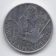 PRANCŪZIJA 10 EURO 2010 KM # 1668 AU PROVENCE-ALPES-COTE D'AZUR