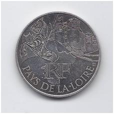PRANCŪZIJA 10 EURO 2011 KM # 1746 XF PAYS DE LA LOIRE