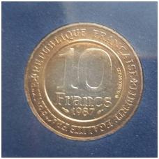 PRANCŪZIJA 10 FRANCS 1987 KM # 961 HUGUES CAPET