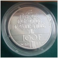 PRANCŪZIJA 100 FRANCS 1988 KM # P999 UNC