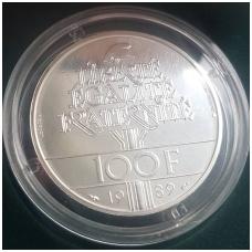 PRANCŪZIJA 100 FRANCS 1989 KM # P1008 UNC