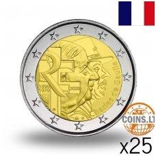 PRANCŪZIJA 2 EURAI 2020 ŠARLIS DE GOLIS RITINĖLIS (25 vnt.)
