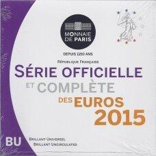 PRANCŪZIJA 2015 m. OFICIALUS BANKINIS EURO MONETŲ RINKINYS