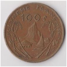 PRANCŪZŲ POLINEZIJA 100 FRANCS 1976 KM # 14 VF