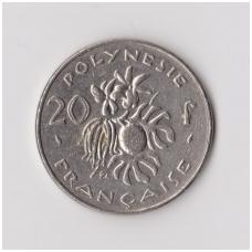 PRANCŪZŲ POLINEZIJA 20 FRANCS 1991 KM # 9 VF