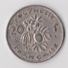 PRANCŪZŲ POLINEZIJA 20 FRANCS 1999 KM # 9 VF