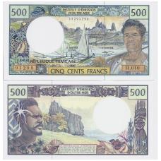 PRANCŪZŲ UŽJŪRIO TERITORIJOS 500 FRANCS 1992 ND P # 1d UNC