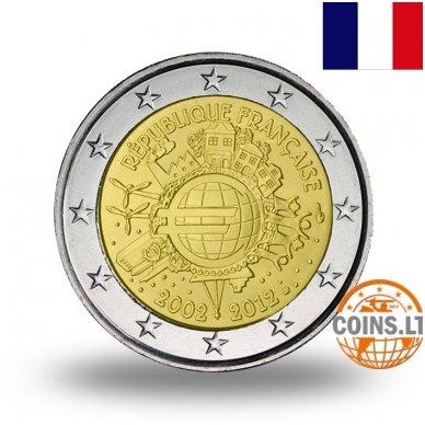 PRANCŪZIJA 2 EURAI 2012 10M. EURUI