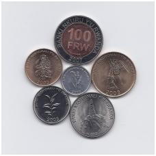 RUANDA 2003 - 2007 m. 5 MONETŲ RINKINYS