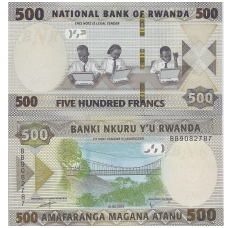 RUANDA 500 FRANCS 2019 P # new UNC