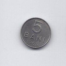 RUMUNIJA 5 BANI 1963 KM # 89 XF