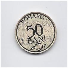 RUMUNIJA 50 BANI 2017 KM # new PROOF EUROPOS SĄJUNGA