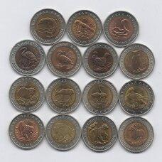 RUSIJA 15 monetų pilnas raudonosios knygos rinkinys