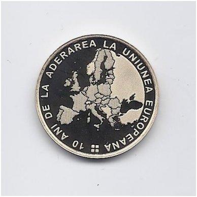 RUMUNIJA 50 BANI 2017 KM # new PROOF EUROPOS SĄJUNGA 2