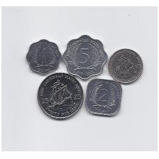 RYTŲ KARIBAI 1989 - 2000 m. 5 monetų rinkinukas