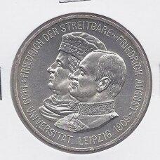 SAKSONIJA 5 MARK 1909 KM # 1269 UNC 500 m. Leipcigo Universitetui