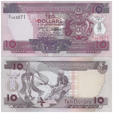 SALIAMONO SALOS  10 DOLLARS 1996 ND P # 20 UNC