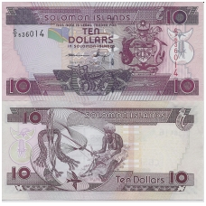 SALIAMONO SALOS 10 DOLLARS ND ( 2014 ) P # 27 AU