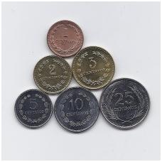 SALVADORAS 1972 - 1999 m. 6 MONETŲ RINKINYS