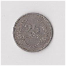 SALVADORAS 25 CENTAVOS 1994 KM # 157b VF