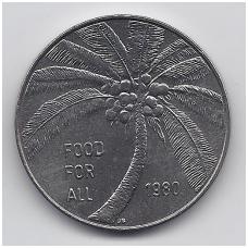 SAMOA 1 TALA 1980 KM # 38 UNC FAO