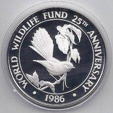 SAMOA 10 TALA 1986 KM # 72 PROOF Paukštis