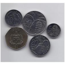 SAMOA 2002 - 2010 m. 5 monetų komplektas