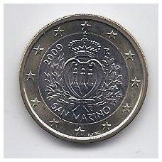 SAN MARINAS 1 EURAS 2009 KM # 485 UNC