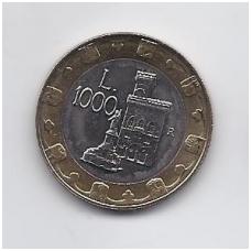 SAN MARINAS 1000 LIRE 1997 KM # 368 UNC