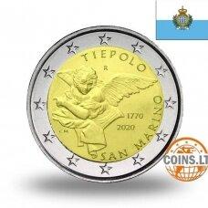 SAN MARINAS 2 EURAI 2020 GIAMBATTISTA TIEPOLO (nešvarios monetos)