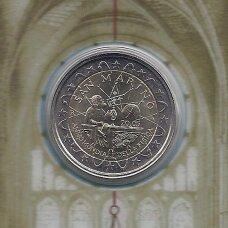 SAN MARINAS 2 EURO 2005 KM # 469 AU Tarptautiniai fizikos metai (be lankstinuko, tik kortelėje)