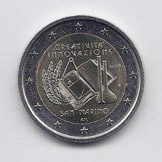 SAN MARINAS 2 EURO 2009 KM # 490 AU Kūrybiškumo ir naujovių metai (be lankstinuko)