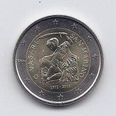 SAN MARINAS 2 EURO 2011 KM # 500 AU Džordžas Vazaris (be lankstinuko)