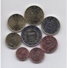 SAN MARINAS 2010 m. pilnas euro monetų rinkinys