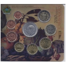 San Marino 2006 full euro set + 5 euro coin Michelangelo Caravaggio