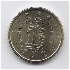 SAN MARINAS 50 EURO CENTS 2018 KM # new UNC