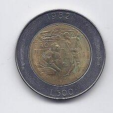 SAN MARINAS 500 LIRE 1982 KM # 140 XF