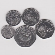 SAN TOMĖ IR PRINSIPĖ 1997 m. 5 monetų komplektas