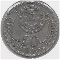 SAN TOMĖ IR PRINSIPĖ 50 CENTAVOS 1929 KM # 1 VF