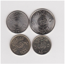 SAUDO ARABIJA 4 monetų rinkinukas ( 5, 10, 25 ir 50 HALALA )